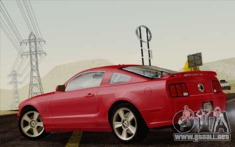 Ford Mustang GT 2005 para GTA San Andreas left