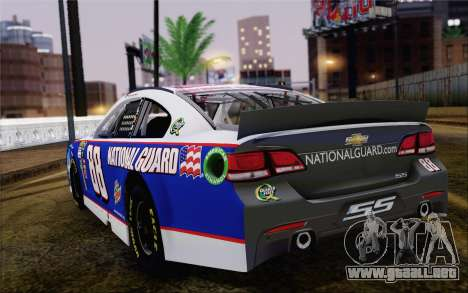Chevrolet SS NASCAR Sprint Cup 2013 para GTA San Andreas left