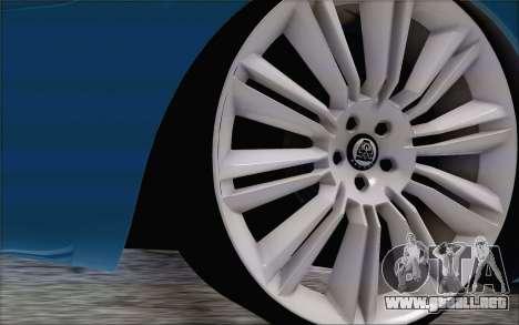 Nissan March para GTA San Andreas vista posterior izquierda