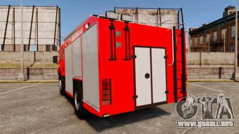 Húngaro camión de bomberos [ELS] para GTA 4 Vista posterior izquierda