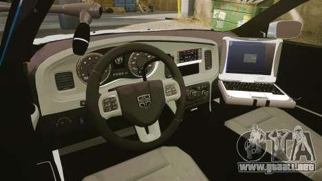 Dodge Charger 2011 LCPD [ELS] para GTA 4 vista hacia atrás