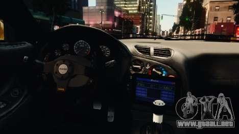 Mazda RX7 Veilside V8 para GTA 4 vista desde abajo