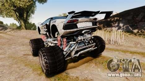 Lamborghini Aventador LP700-4 [Monster truck] para GTA 4 Vista posterior izquierda