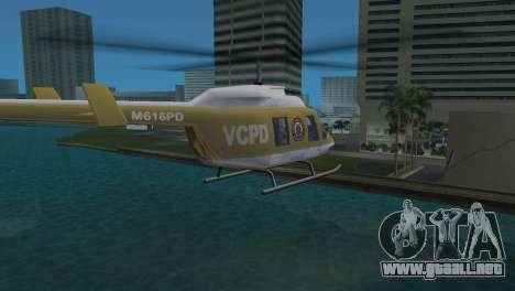 Helicóptero de la policía de GTA VCS para GTA Vice City vista lateral izquierdo