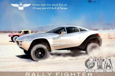 Inicio pantallas de Rally Fighter para GTA 4 adelante de pantalla