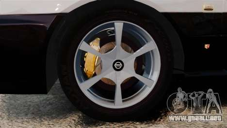 Nissan Skyline ER34 Police para GTA 4 vista hacia atrás