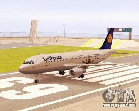 Airbus A320-200 Lufthansa para GTA San Andreas
