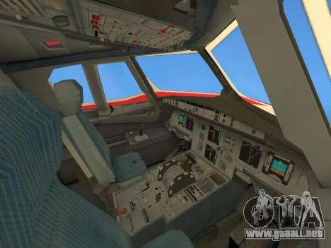 Airbus A320 Avianca Columbia para vista inferior GTA San Andreas