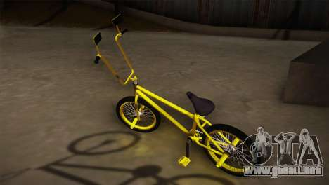 New BMX Yellow para GTA San Andreas left