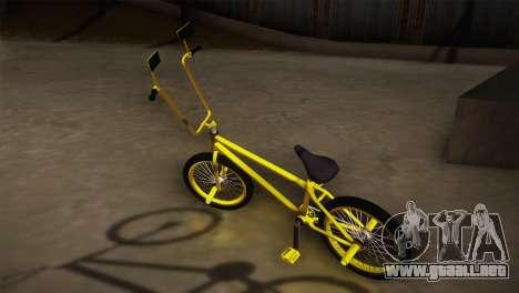 New BMX Yellow para GTA San Andreas left