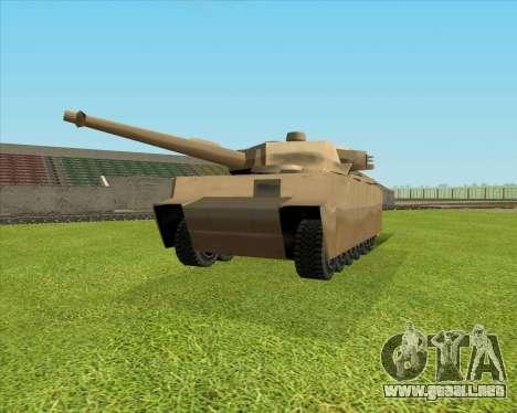 Rhino tp.Tiger para GTA San Andreas vista posterior izquierda