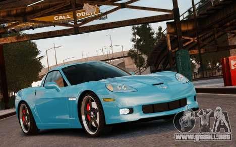 Chevrolet Corvette Grand Sport 2010 para GTA 4 vista lateral