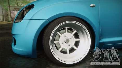 Suzuki Swift Hellaflush para la visión correcta GTA San Andreas
