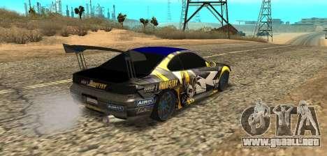 Nissan Silvia S15 Drift Industry para GTA San Andreas left