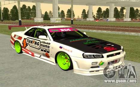 Nissan Skyline R-34 RDS para GTA San Andreas
