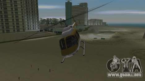Helicóptero de la policía de GTA VCS para GTA Vice City vista posterior