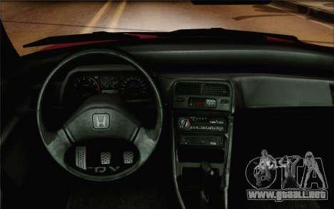 Honda CRX Low Gang para GTA San Andreas vista hacia atrás