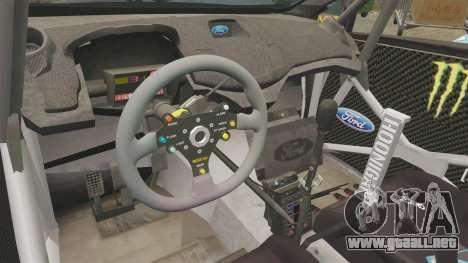 Ford Fiesta RS [Hoonigan] para GTA 4 vista hacia atrás