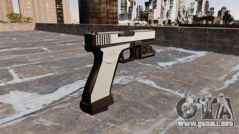 Pistola Glock 20 Chrome para GTA 4 segundos de pantalla