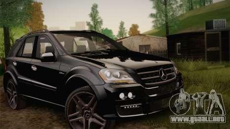 Mercedes-Benz ML63 para visión interna GTA San Andreas