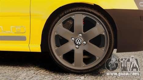 Volkswagen Parati G4 Track and Field 2013 para GTA 4 vista hacia atrás
