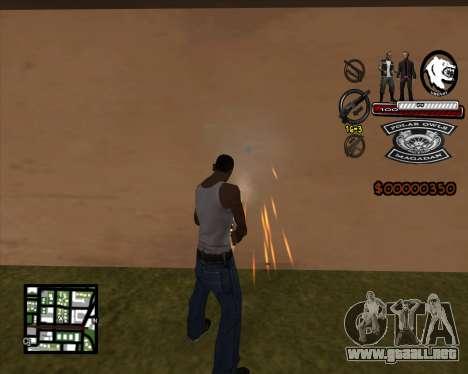 C-HUD Bikers para GTA San Andreas segunda pantalla
