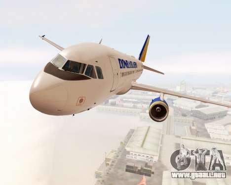 Airbus A320-200 Donbassaero para visión interna GTA San Andreas