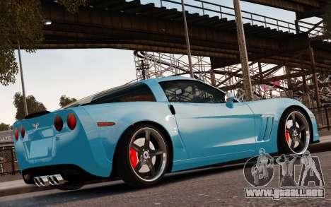 Chevrolet Corvette Grand Sport 2010 para GTA 4 vista desde abajo