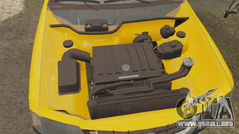 Volkswagen Parati G4 Track and Field 2013 para GTA 4 vista interior