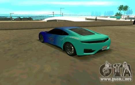 GTA V Dinka Jester para GTA San Andreas vista posterior izquierda