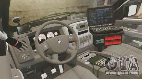 Dodge Ram 2500 2006 DACS [ELS] para GTA 4 vista hacia atrás