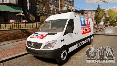 Mercedes-Benz Sprinter TF1 News [ELS] para GTA 4