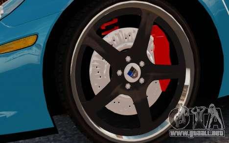 Chevrolet Corvette Grand Sport 2010 para GTA 4 vista hacia atrás