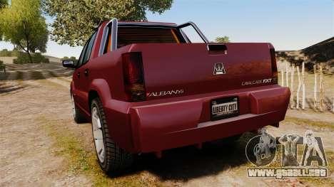 GTA V Albany Cavalcade FXT para GTA 4 Vista posterior izquierda