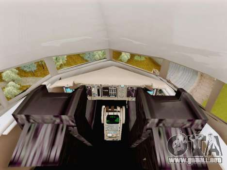 Boeing 767-300 para GTA San Andreas vista hacia atrás