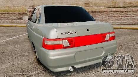 VAZ-2110 110 Bogdan para GTA 4 Vista posterior izquierda