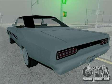 Plymouth Road RunneR GTX 1970 para la visión correcta GTA San Andreas