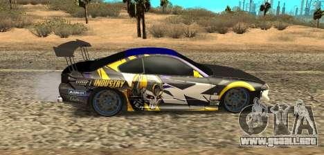 Nissan Silvia S15 Drift Industry para GTA San Andreas vista posterior izquierda