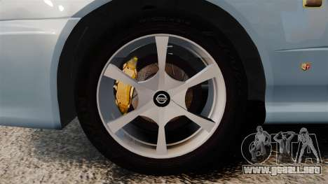 Nissan Skyline ER34 GT25 para GTA 4 vista hacia atrás
