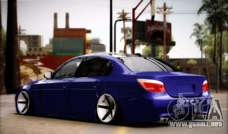 BMW M5 E60 Vossen para GTA San Andreas left