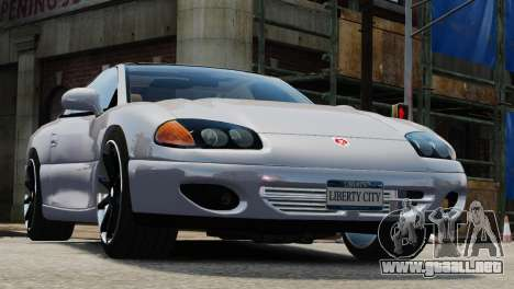 Dodge Stealth Turbo RT 1996 para GTA 4 vista hacia atrás