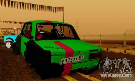 BMWAZ para GTA San Andreas vista posterior izquierda