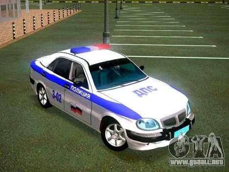 GAZ Volga 3111 DPS para la visión correcta GTA San Andreas