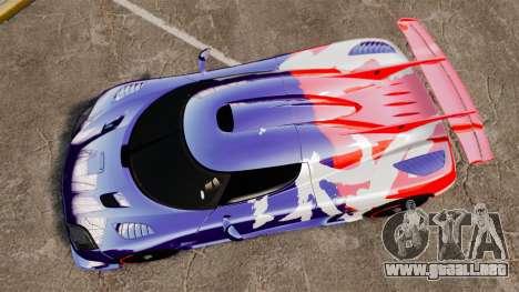 Koenigsegg One:1 para GTA 4 visión correcta