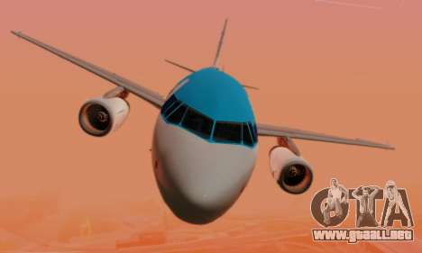 Airbus A319 KLM para vista inferior GTA San Andreas