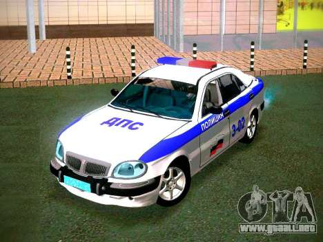 GAZ Volga 3111 DPS para GTA San Andreas vista hacia atrás