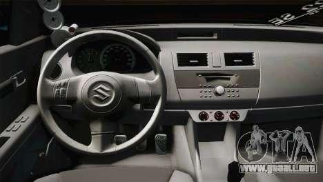 Suzuki Swift Hellaflush para visión interna GTA San Andreas