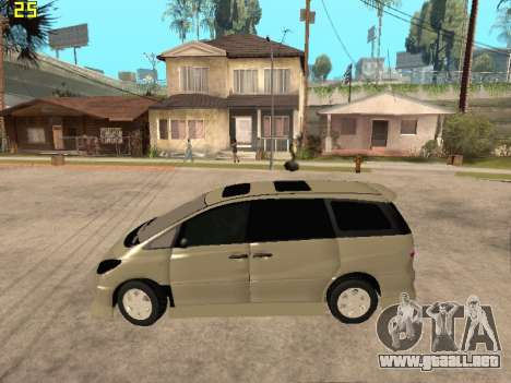 Toyota Estima Altemiss 2wd para GTA San Andreas left