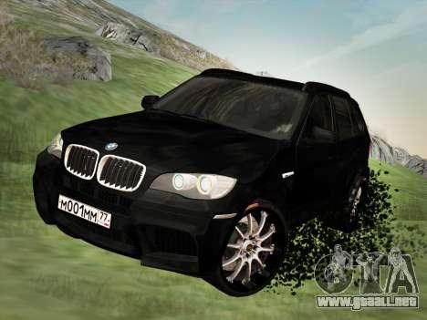 BMW X5M E70 2010 para visión interna GTA San Andreas