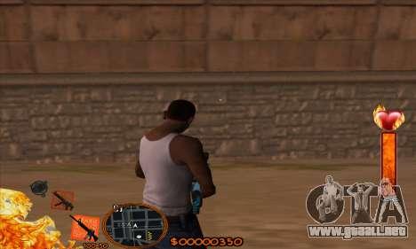 C-HUD Fire para GTA San Andreas segunda pantalla